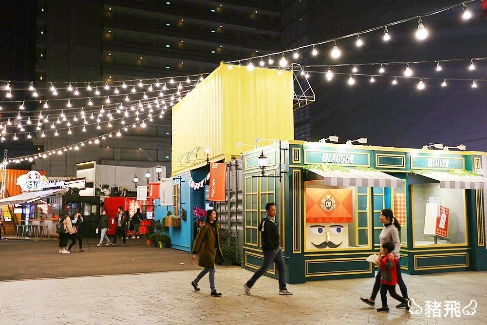 【台中景點】UNO貨櫃市集~聚集國內外美食的超大貨櫃聚落,還有浪漫旋轉木馬,夜晚就要這樣玩!(已撤櫃)