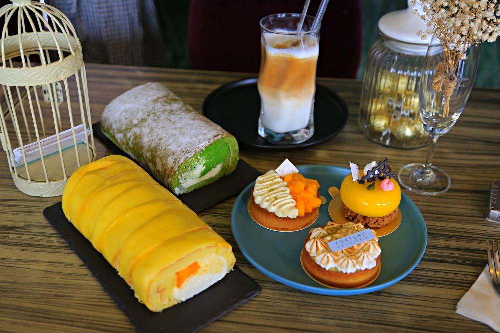 【嘉義東區】芙甜法式點心坊~爆料芒果生乳捲、抹茶生乳捲、各種法式塔類,百年老屋與法式甜點的相遇!