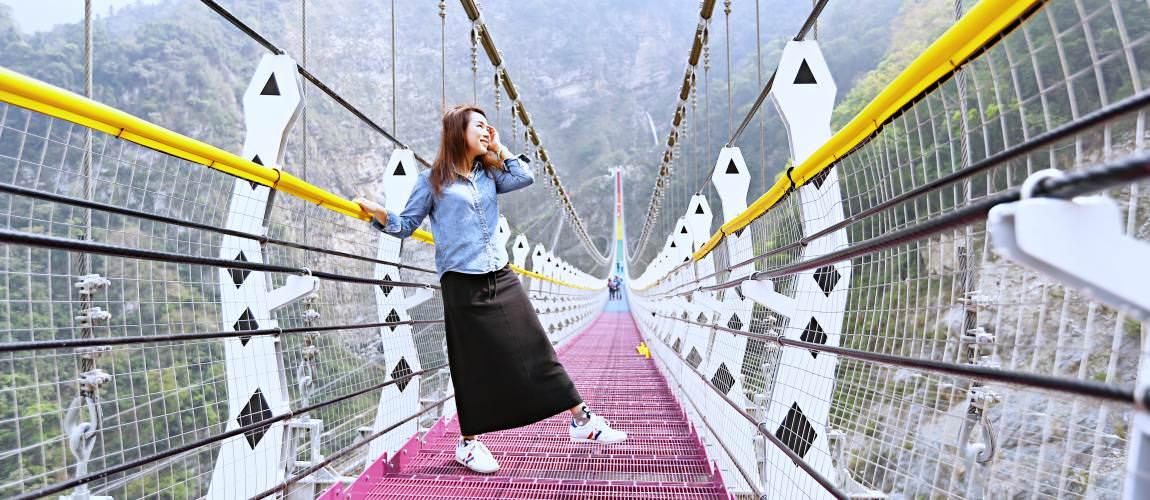 南投深山秘境彩虹吊橋