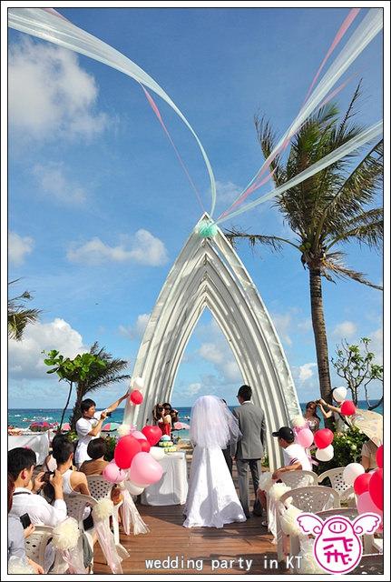 【墾丁】悠活度假村南灣星空教堂~美到爆,浪漫的關島海灘婚禮在台灣
